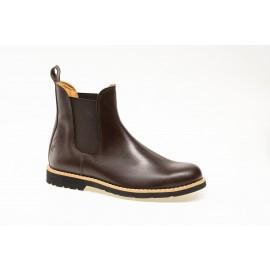 Boots gardian cuir Chocolat
